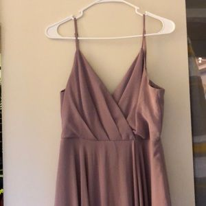 Nordstrom lavender bridesmaid dress.